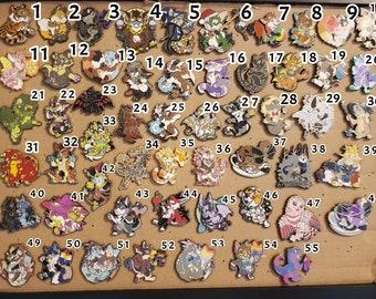 Assorted Fursona Pins Enamel Pins 2/3