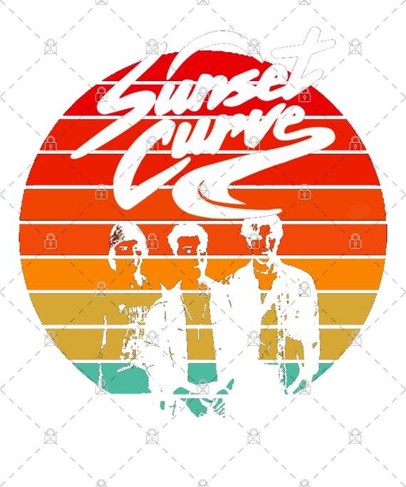 Sunset Curve Band PNG For Print, Digital download, Sublimation PNG