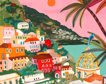 Amalfi Sunset by Hebe Studio Rhi James Paint Anywhere Collective Kit Adult Paint by Number