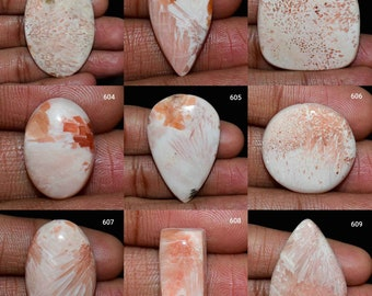Natural Pink Scolecite Cabochon-Oval Shape Scolecite-Pink Scolecite Gemstone-Designer  Scolecite-For Jewelry 65.85 Cts 45x35x6 MM AN-567