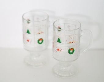 Vintage Christmas - Set of 2 - Glasses - Barware - Drinkware