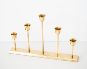 Vintage Brass / Gold Candle Holder  - Home Decor