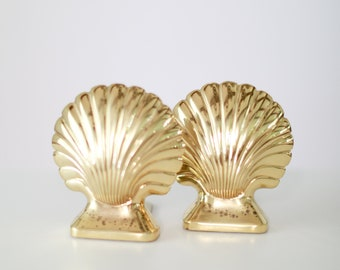 Vintage Brass Seashell Bookends - Set of 2 - Baldwin Henry Ford Museum