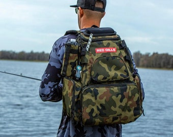 Personalized Tactical  Tackle bag COMBO Combined Hunting  Fishing Backpack personalized with Name or Monogram