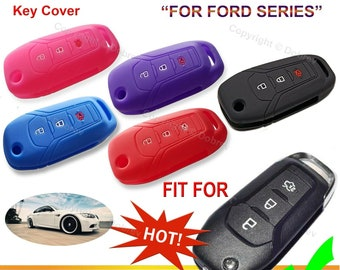 Silver Cajek for Ford Key Fob Cover TPU Skin Case Protector with Keychain Compatible with 2020 2019 2018 F150 Escape Fusion Explorer Mustang Edge F250 F350 F450 F550 Ranger 4//5 Buttons Smart Key