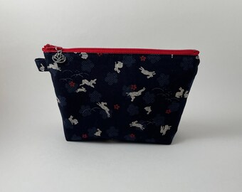 Zipper pouch, pencil pouch, medium pouch, gift for her