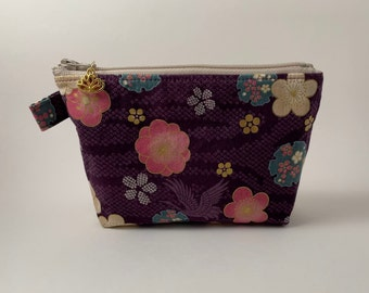 Zipper pouch, pencil pouch, small pouch, cosmetic pouch, gift for her