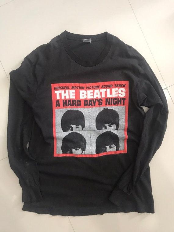 Rare Long Sleeve Vtg The Beatles Hard Day's Night