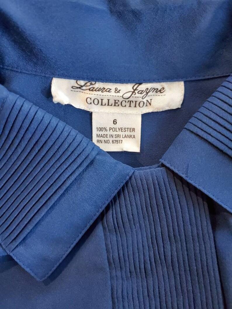 Royal Blue Button Down Blouse