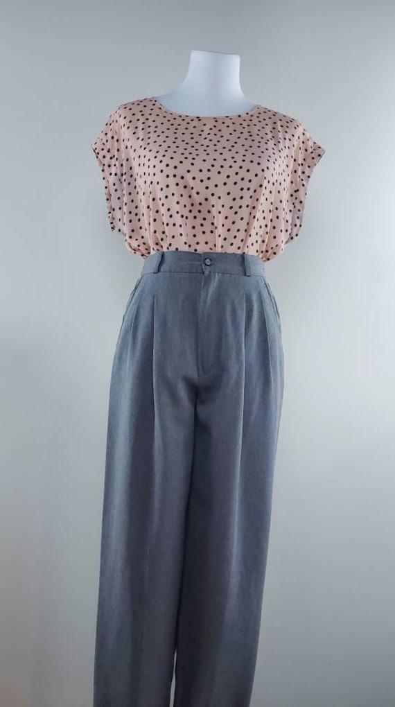 Gray High Waisted Pants