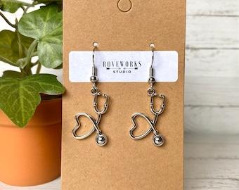 Healthcare Heroes stethoscope earrings