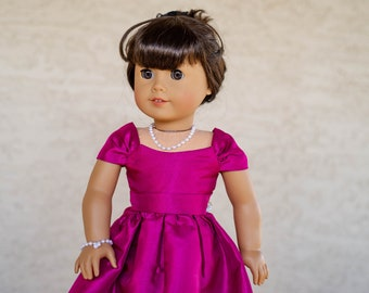 """Doll Clothes Gown Princess Party Dress For 18/"""" American girl Doll Black Gown"""