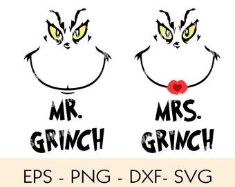 Mrs Grinch Svg Etsy