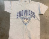 Vintage 80s 90s single stitch Snowmass Colorado tee large