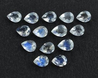 New Cut Faceted Pear Shape Briolettes,18x13mm Long,Superb Superb LONDON BLUE Quartz 3 Matched pairs