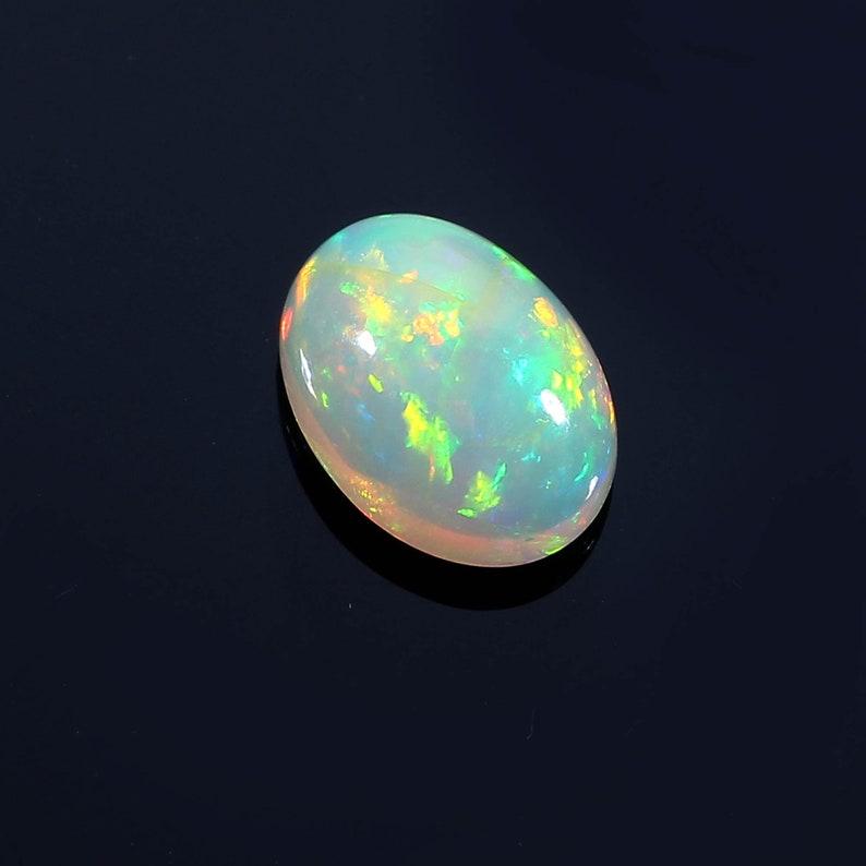 7x10 MM 1.45 Ct Natural Ethiopian Opal Cabochon/'s Flashy Fire Opal Gemstone Multi Fire Opal Jewelry Making AAA Quality Opal Cabochon/'s