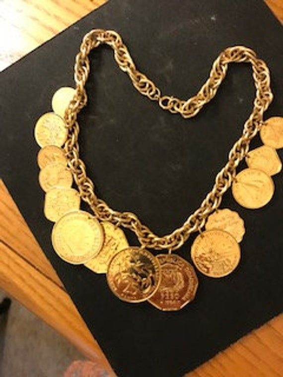 Franklin Mint Caribbean Coin Necklace