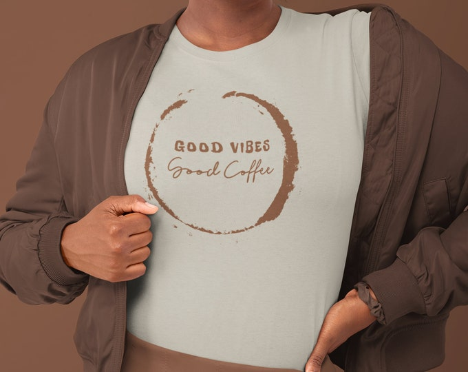 Good Vibes - Good Coffee - SAND/PERU TAN - Unisex Ultra Cotton Tee - S to 3XL