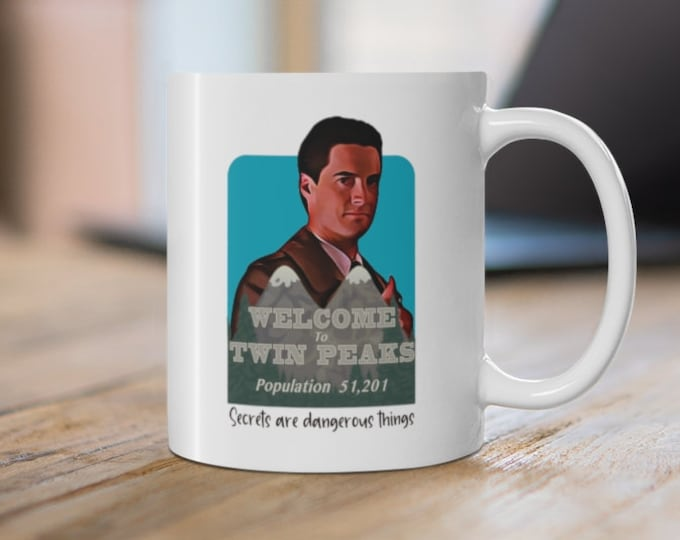 TWIN PEAKS - Secrets Are Dangerous Things - Dale Cooper - White Ceramic Mug 11oz
