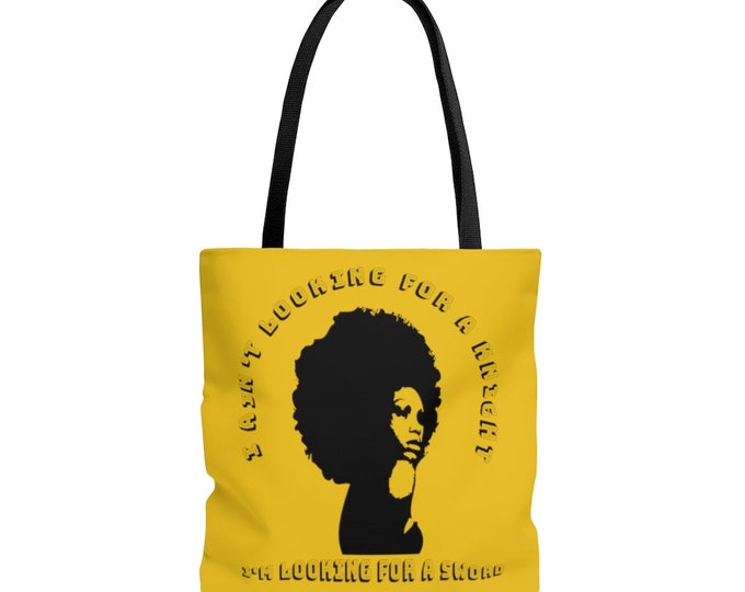 I ain't looking for a Knight, I'm looking for a sword - Powerful Black Woman - YELLOW AOP Tote Bag