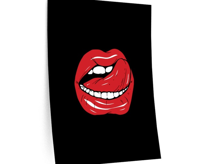 Juicy Red Lips - Wall Decal - 3 Sizes