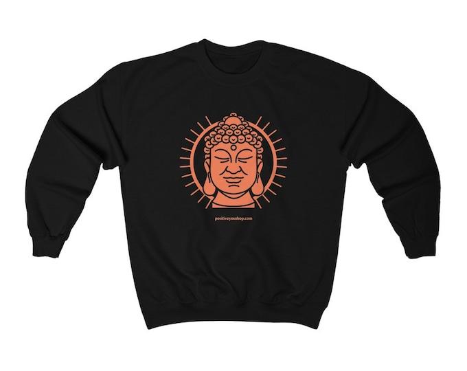 Buddha Quote Back-Printed Unisex Heavy Blend Crewneck Sweatshirt