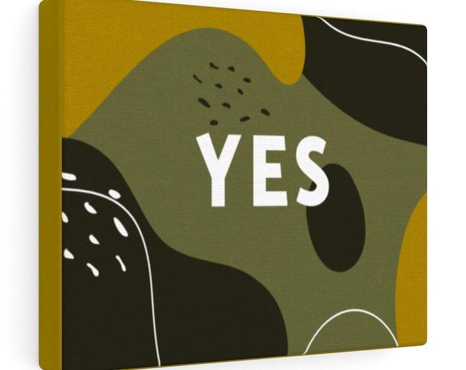 "YES Canvas Gallery Wrap 10"" x 8"" Dark Goldenrod Yellow/Black Magic Brown/Yellow Metal Green"