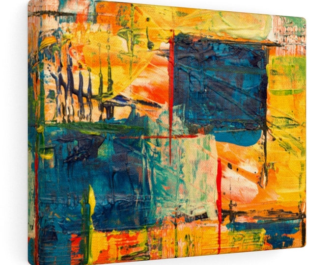 Colorful Abstract Art  - Art Print -  Canvas Gallery Wrap - 10x8