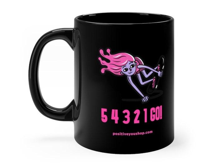 54321GO! Skater Girl Black mug 11oz