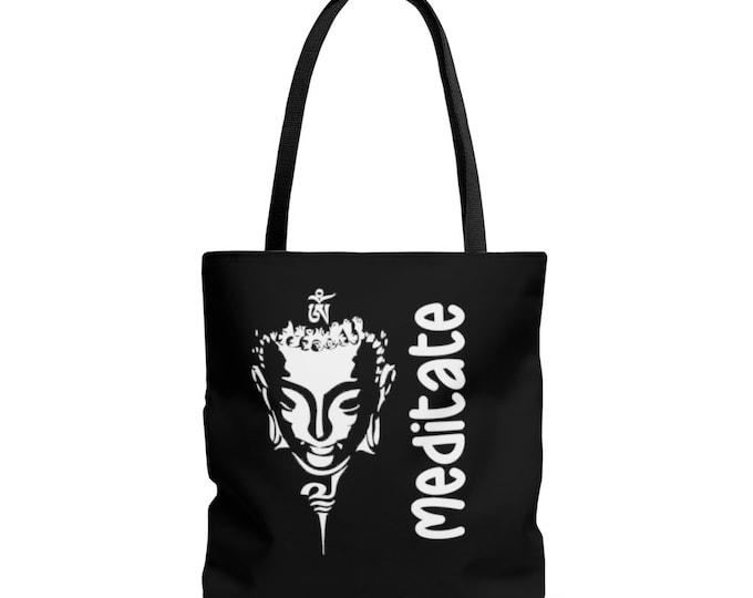 Buddha MEDITATE AOP Tote Bag