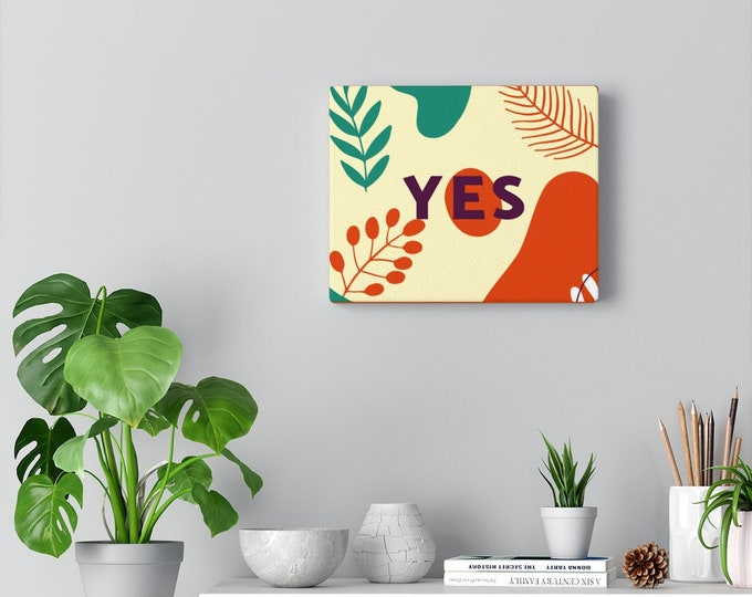 "YES Canvas Gallery Wrap 10"" x 8"" Harley Davidson Orange/Elf Green/Lemon Chiffon"