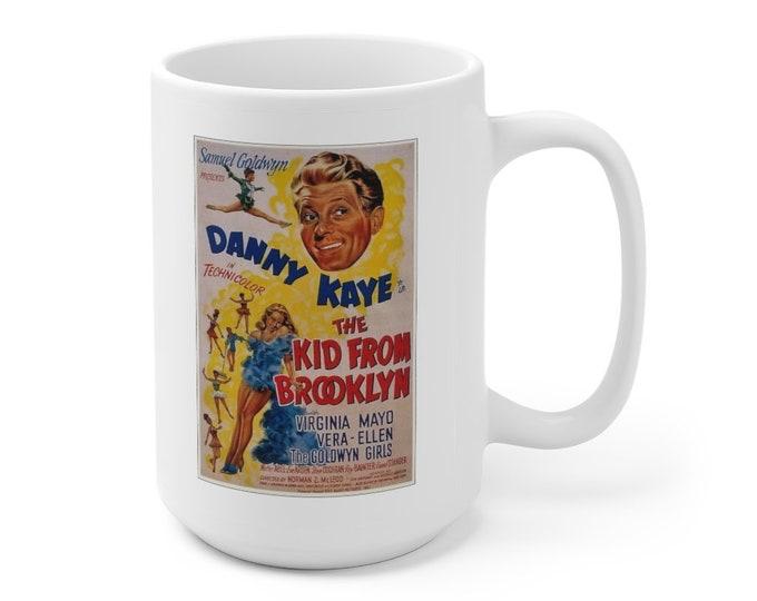 DANNY KAYE Virginia Mayo - The Kid From Brooklyn - Movie Poster - Ceramic Mug 15oz