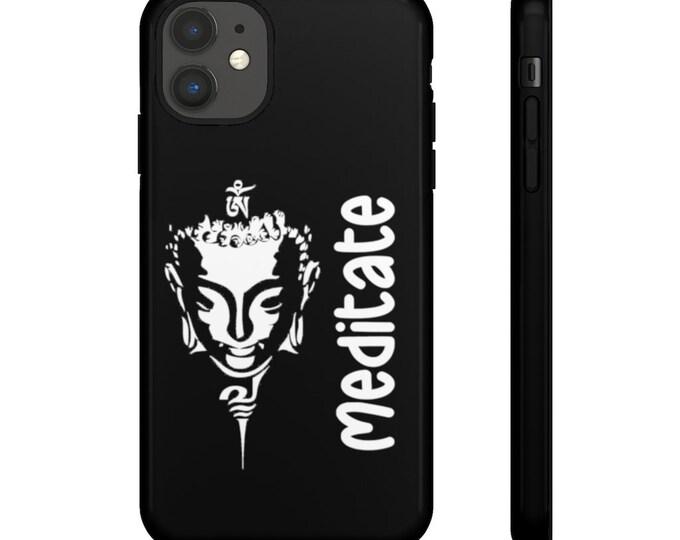 Buddha MEDITATE Tough Black Matte/Gloss Phone Case for iPhone 11