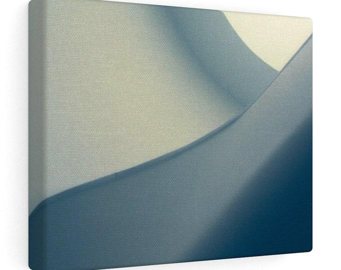 BLUE-GRAY  - Art Print -  Canvas Gallery Wrap - 10x8