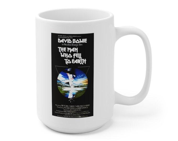 DAVID BOWIE - The Man Who Fell To Earth - Movie Poster - Ceramic Mug 15oz