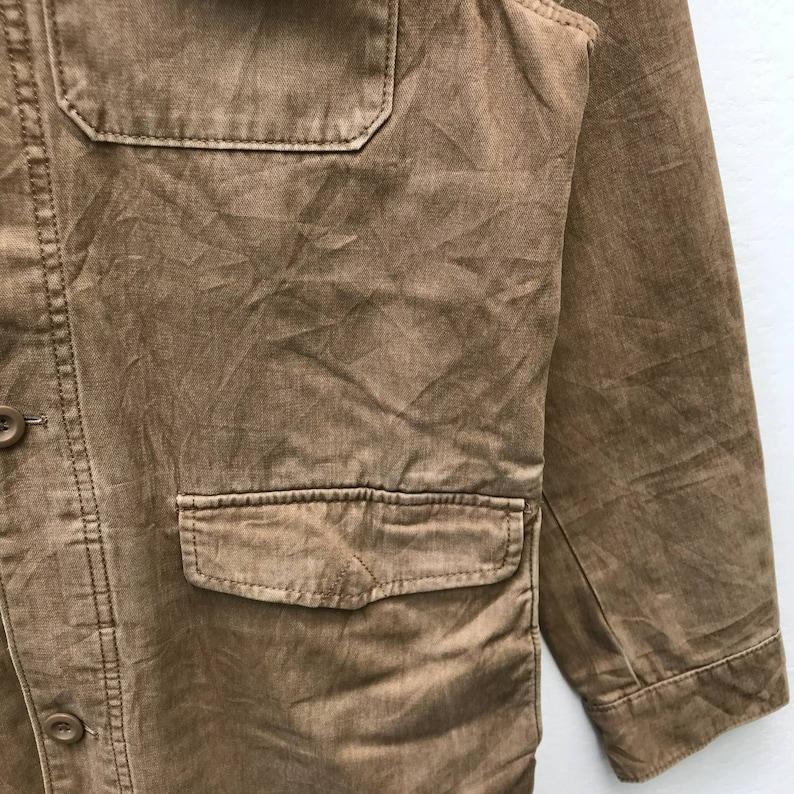 GAP Denim Jacket Button Down Tactical Pocket Size S Rare !