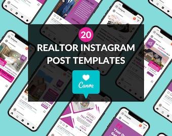 Realtor Instagram Posts (Pink/Purple Theme) Real Estate Instagram Template   Real Estate Canva Template   Canva Real Estate Template (20)