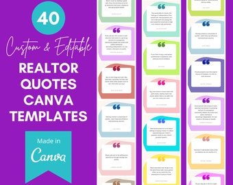40 Realtor Canva Templates   40 Real Estate Quotes   Real Estate Templates Canva   Canva Instagram Template Real Estate   Real Estate Agent