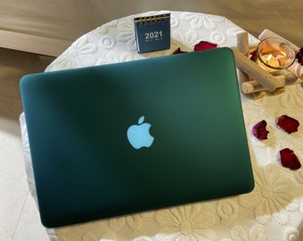 The Emerald Green Pure Color Smooth Macbook Case for New Pro Mac Laptop Macbook Air Pro 13 2020 Macbook Pro 15 2019 Case Macbook 12 Case