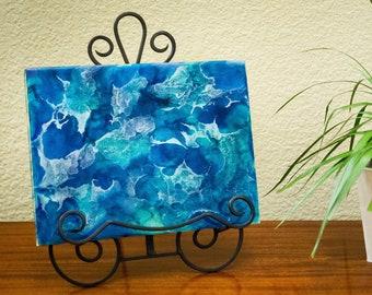 "11""x14"" Ocean Resin Art Piece"