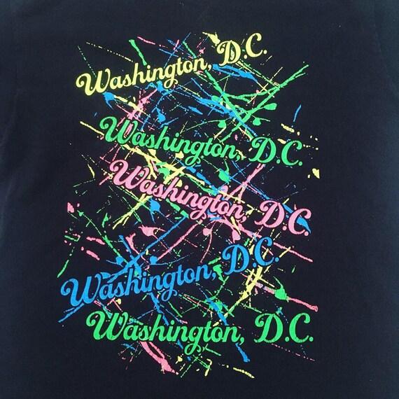 Washington DC 90s 1990s Paint Splatter Vintage T-s