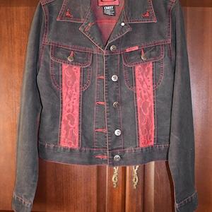 Cheap monday custom painted  denim organic jacket size M