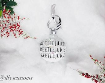 Personalized Beetlejuice's Name Ornament   Beetlejuice   Christmas   Exchange Gift  Gift Ideas   Halloween Decor   Home Decor   Broadway