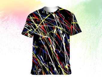 art t shirt, abstract t shirt, handmade t shirt, fashion t shirt, abstract art t-shirt, tee shirt art, tee shirt abstract, tee color line
