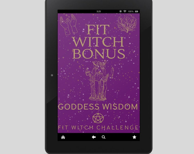 Fit Witch Guide: GODDESS, Ritual, Sabbats, Witchcraft, Witchy Books, Self Care, Witchy, Book of Shadows, Spells, Pagan, Grimoire, Printables