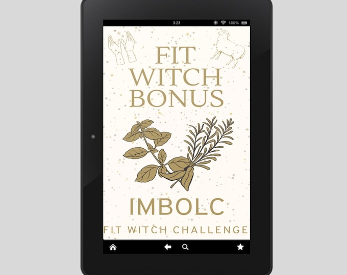 Fit Witch Guide: IMBOLC, Ritual, Sabbats, Witchcraft, Witchy Books, Self Care, Witchy, Book of Shadows, Spells, Pagan, Grimoire, Printables