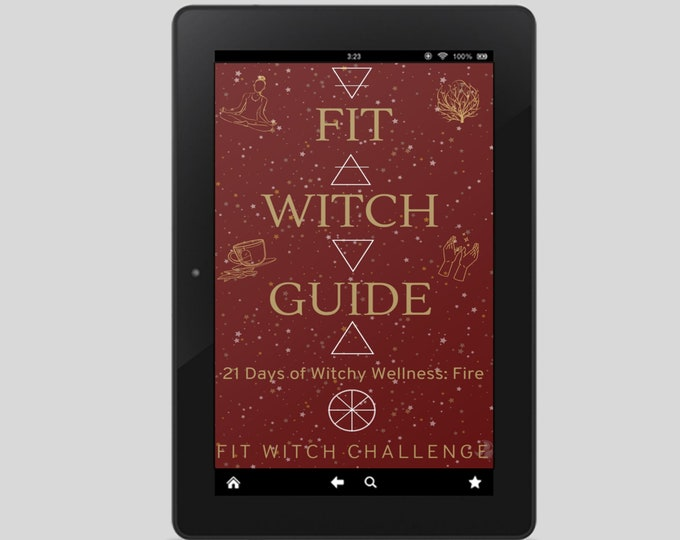 Fit Witch Guide: FIRE, Exercise and Wellness Witchery - Witchy Books - Self Care - Witch Tips - Witchcraft - Spells - Pagan