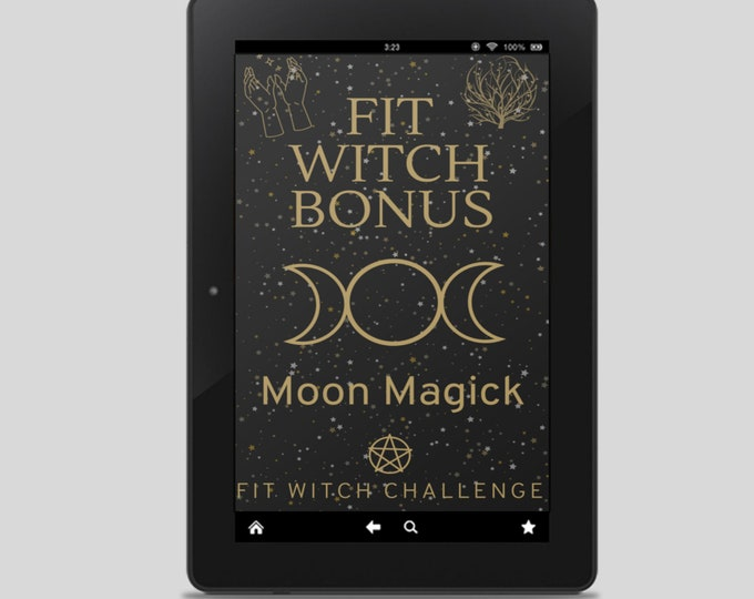 Fit Witch Guide: MOON MAGICK, Ritual, Witchcraft, Witchy Books, Self Care, Witchy, Book of Shadows, Spells, Pagan, Grimoire, Printables