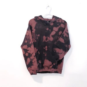 Pullover Sweater 2T 4T 5T Sweatpants Tie Dye Cappuccino Sweatsuit Heavyweight |Black base Brown Hood Joggers