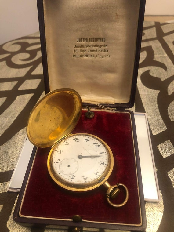 Antique Pocket Watch Gold from 18th Century